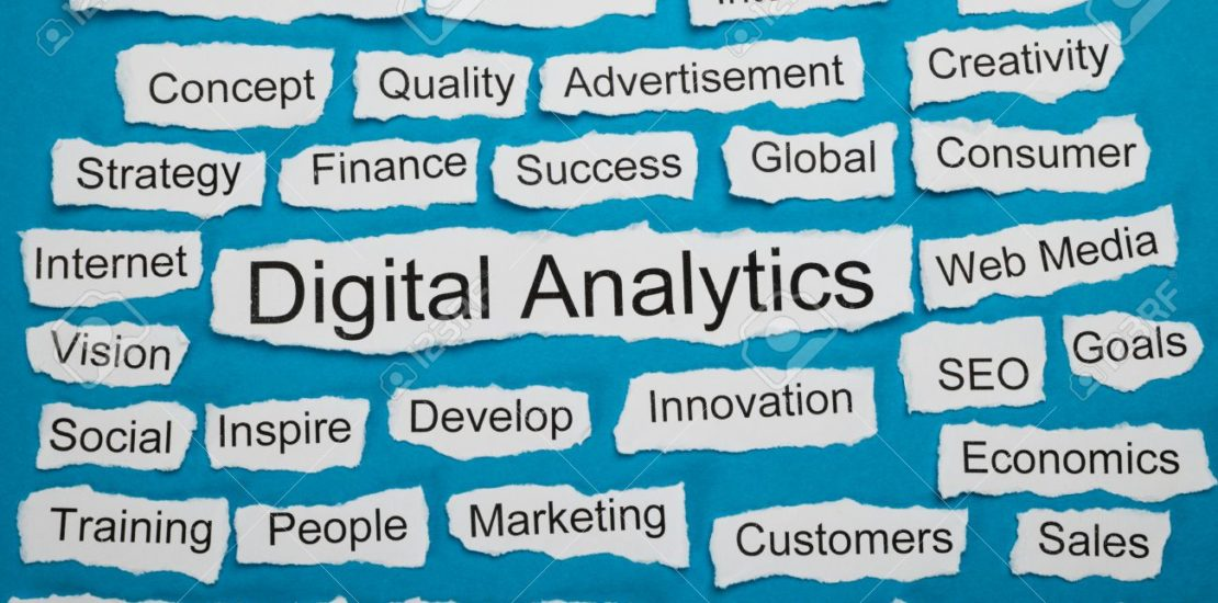 Word Digital Analytics On Piece Of Paper Salient Among Other Related Keywords